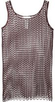Maison Margiela embroidered mesh dress - women - Polyester/Viscose - M