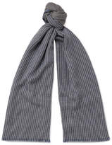 Loro Piana Striped Cashmere Scarf - Gray