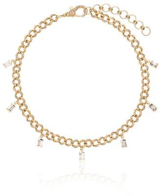 Shay 18k Yellow Gold Baguette Diamond Anklet