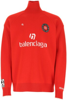 Balenciaga Soccer Turtleneck Knit Jumper