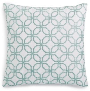 "Charter Club Damask Designs Embroidered 18"" x 18"" Decorative Pillow, Created for Macy's Bedding"