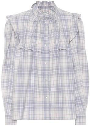 Etoile Isabel Marant Idety check cotton blouse