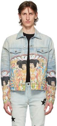 Amiri Blue Denim Jimi Hendrix Trucker Jacket