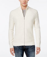INC International Concepts Men's Full-Zip Multi-Textured Sweater, Only at Macy's