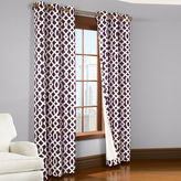 Asstd National Brand Trellis 2-Pack Thermal Cotton Grommet-Top Curtain Panels