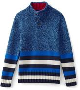 Lands' End Stripe Mock Collar Sweater (Little Boys)