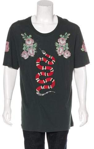 Gucci 2016 Embroidered T-Shirt