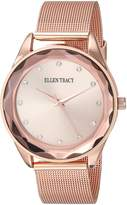 Ellen Tracy Women's ET5180RG Analog Display Analog Quartz Rose Watch