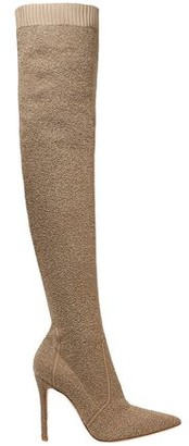 Gianvito Rossi Boucle-knit Over-the-knee Boots