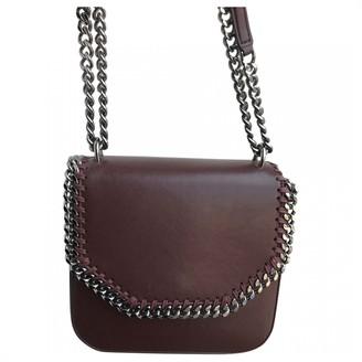 Stella McCartney Falabella Box Burgundy Patent leather Handbags