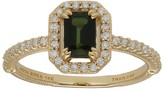 Judith Ripka 14K Gold Green Tourmaline & Diamond Ring