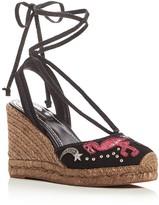 Marc Jacobs Nathalie Applique Embellished Espadrille Wedge Sandals