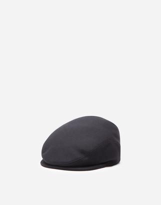 Dolce & Gabbana Virgin Wool Flat Cap
