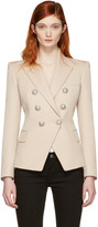 Balmain Beige Double-Breasted Blazer