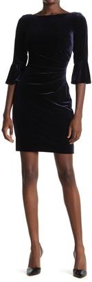 Vince Camuto Velvet Bell Sleeve Bodycon Dress
