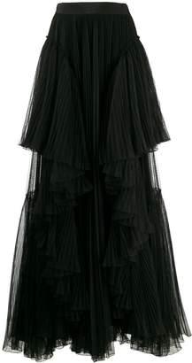 Alberta Ferretti ruffled trim skirt