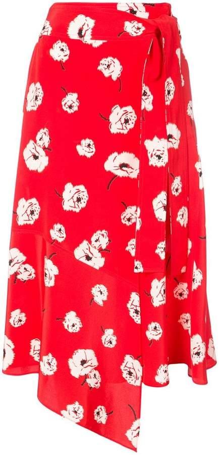Derek Lam 10 Crosby Printed Wrap Skirt