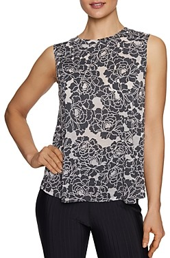 Betsey Johnson Burnout Floral Muscle Tank