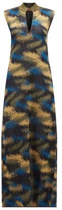 Missoni High-neck Metallic Jacquard-knit Dress - Womens - Navy Gold