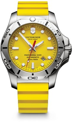 Victorinox INOX Professional Diver Stainless Steel and Rubber Strap Watch
