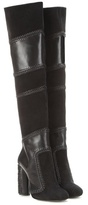 Tom Ford Suede And Leather Over-the-knee Boots