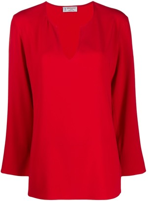 Alberto Biani V-Neck Loose-Fit Blouse