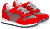 Armani Junior colour blocked sneakers