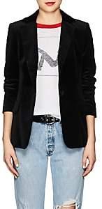Frame Women's Classic Velvet One-Button Blazer - Black