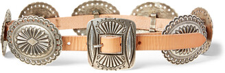 Ralph Lauren Leather Concho Belt