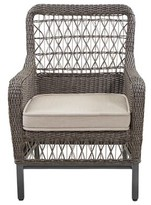 Paula Deen Dogwood Stacking Patio Dining Chair with Cushion (Set of 2 Home Color: Cast Ash