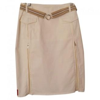 Prada White Cotton Skirt for Women Vintage