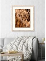"24 in. x 31 in. ""Feathers II"" Framed Giclee Print Wall Art"