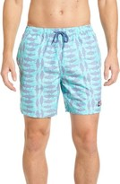 Vineyard Vines Men's Chevron Fish Chappy Swim Trunks