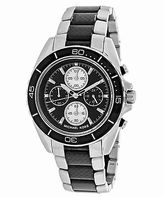 Michael Kors MK8454 Men's Jetmaster Chronograph Two-Tone SS Black Dial