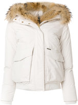 Woolrich fur collar bomber jacket - women - Feather Down/Polyamide/Polyester/Feather - XS