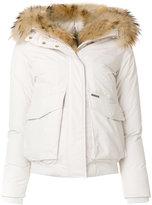 Woolrich fur collar bomber jacket