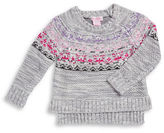 Design History Girls 2-6x Sequined Hi-Lo Sweater