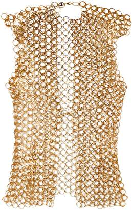 Paco Rabanne Gold-tone Chainmail Tank