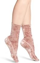 Nordstrom Women's Crushed Velvet Socks
