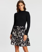 Dorothy Perkins Shadow Print Two-In-One Dress