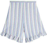 See by Chloe Striped Cotton Shorts