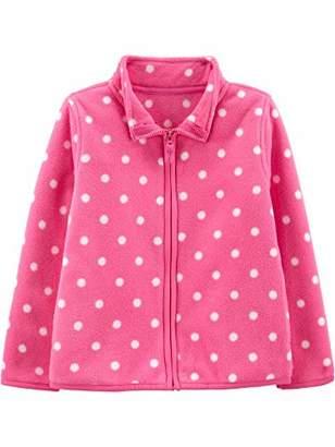 Carter's Simple Joys by Girls' Toddler Full-Zip Fleece Jacket