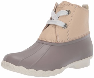 Sperry Women's Saltwater 2-Eye Leather Ivory/Taupe Boot