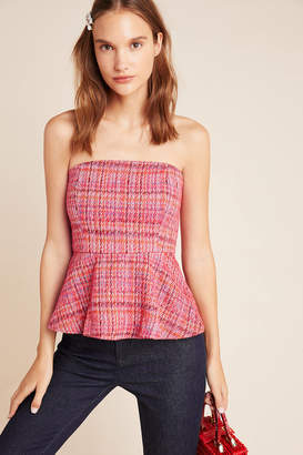 Maeve Shannon Peplum Cropped Top