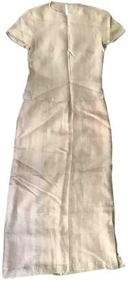 Non Signã© / Unsigned Silver Linen Dresses