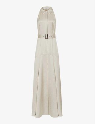 Reiss Keira sleeveless woven maxi dress