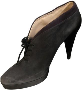 Prada Grey Suede Boots