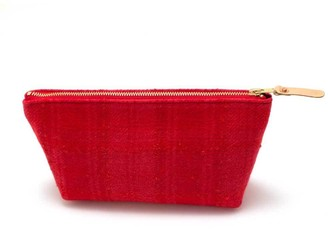 General Knot & Co 1950s Boucle Wool Travel Clutch