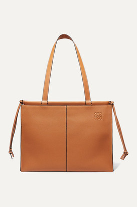 Loewe Cushion Medium Textured-leather Tote - Camel