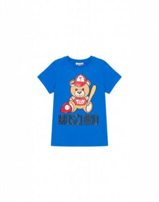 Moschino Baseball Teddy Bear T-shirt Unisex Blue Size 4a It - (4y Us)